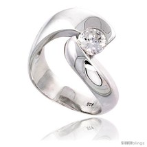 Size 9 - Sterling Silver High Quality Brilliant Cut CZ Ladies  - £50.30 GBP
