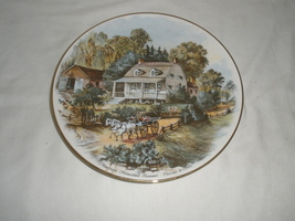 "Vintage American Homestead "" Summer"" Currier & Ives Decorative Plate  - $21.75"