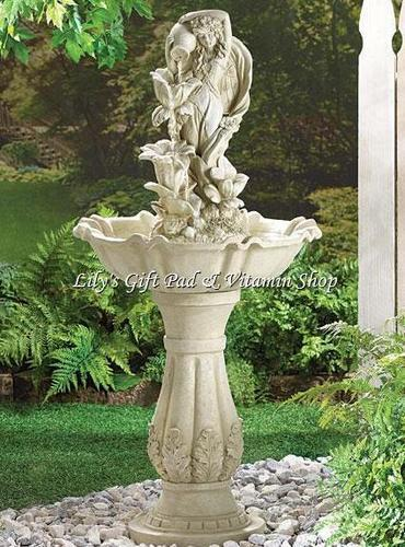 Primary image for FAIRY MAIDEN WATER FOUNTAIN Outdoor Garden Accent SPRING Time (#34189)