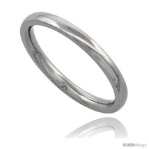 Size 2 - Surgical Steel 2mm Domed Wedding Band Thumb / Toe Ring Comfort-... - $19.58