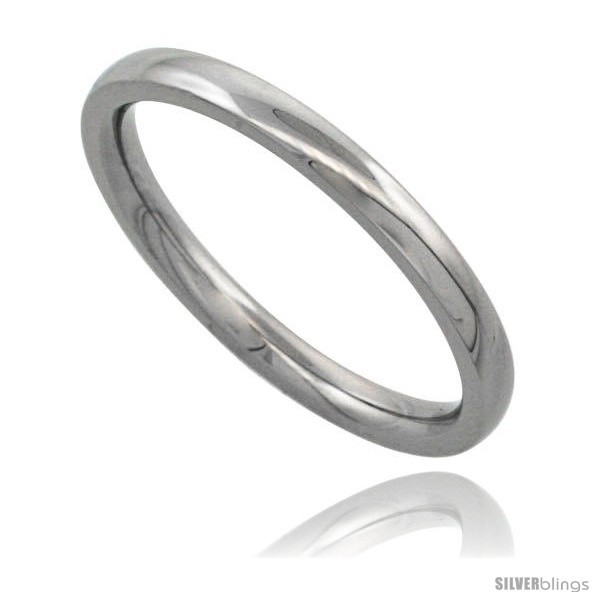Surgical steel 2mm domed wedding band thumb toe ring comfort fit high polish