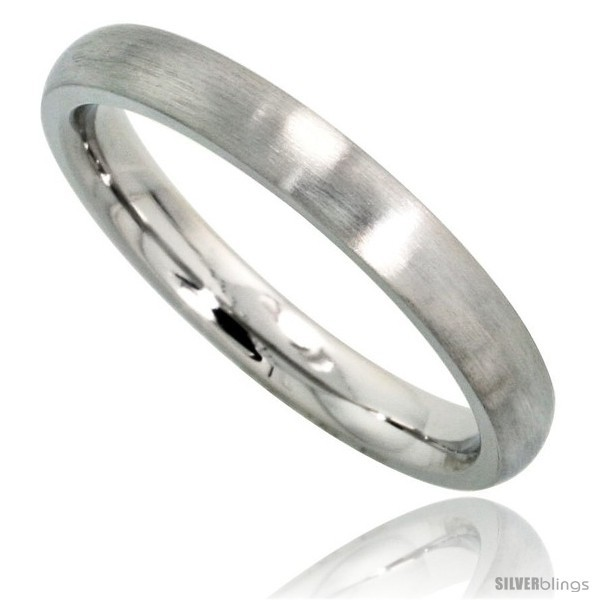 Surgical steel 3mm domed wedding band thumb toe ring comfort fit matte finish