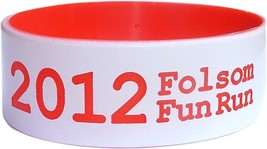 """100 ONE INCH 1"""" COLOR TEXT CUSTOM SILICONE WRISTBANDS BIG FAT BANDS SHIP... - $159.99"""