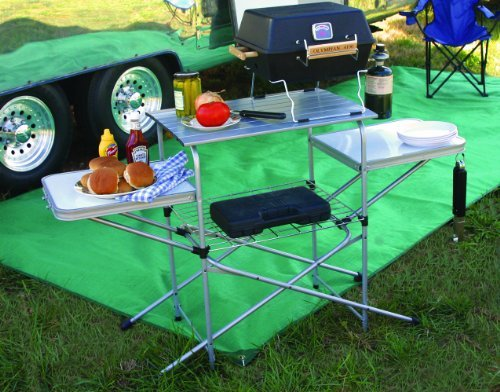 Camping grilling table grill tailgate prep food chef