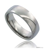 Size 9.5 - Surgical Steel 6mm Domed Wedding Band Thumb Ring Comfort-Fit ... - £11.84 GBP