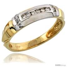 Size 13.5 - 14k Gold Men's Diamond Band w/ Rhodium Accent, w/ 0.23 Carat  - $846.31