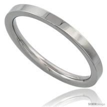 Size 8 - Surgical Steel 2mm Wedding Band Thumb / Toe Ring Comfort-Fit High  - $17.62