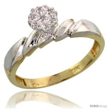 10k yellow gold diamond engagement ring 0 05 cttw brilliant cut 5 32 in wide thumb200
