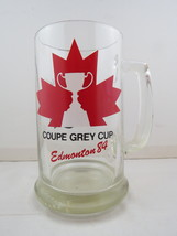 1984 Grey Cup Beer Mug - Maple Leaf Graphic - Edmonton 1984 - $59.00