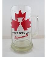 1984 Grey Cup Beer Mug - Maple Leaf Graphic - Edmonton 1984 - $59.00