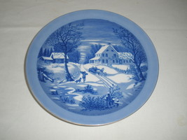 VTG The Homestead in the Winter Currier & Ives Decorative Plate Made in ... - $17.75