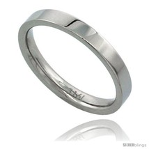 Size 9 - Surgical Steel 3mm Wedding Band Thumb / Toe Ring Comfort-Fit High  - $17.62