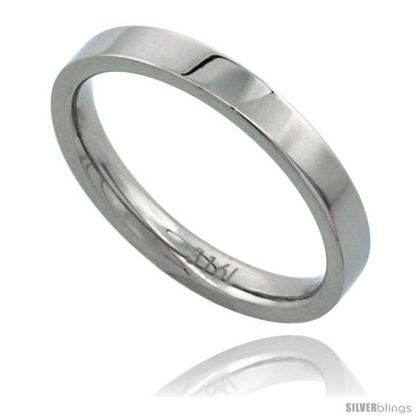 Surgical steel 3mm wedding band thumb toe ring comfort fit high polish