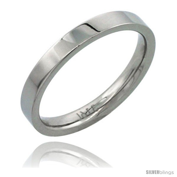 Size 11 - Surgical Steel 3mm Wedding Band Thumb / Toe Ring Comfort-Fit High