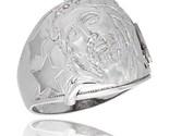 Lver mens jesus christ ring brilliant cut cubic zirconia stones 20mm 13 16 in wide thumb155 crop