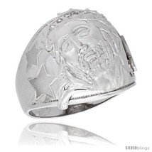 Size 9 - Sterling Silver Men's Jesus Christ Ring Brilliant Cut Cubic Zir... - $111.39
