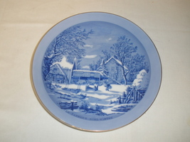 "Vintage The Farmer's Home ""Winter""  Currier & Ives Decorative Plate Made... - $17.75"