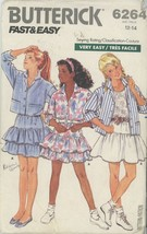 Vintage  Girls Shirt and Skirt Butterick 6264 Sewing Pattern Size 12-14 ... - $2.00
