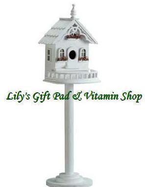 Primary image for Freestanding Victorian BIRDHOUSE Outdoor SPRING TIME Garden Bird Houses (#34320)