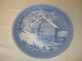 VTG The Old Homestead in Winter Currier & Ives Decorative Plate Made in ... - $17.75