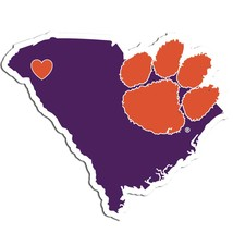NCAA Clemson Tigers Home State Auto Car Window Vinyl Decal Sticker - $4.95