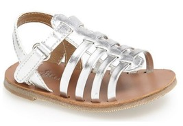 Cole Haan baby girls' 'Apple - Mini' Fisherman Sandal  Silver , Size 3 - $24.74