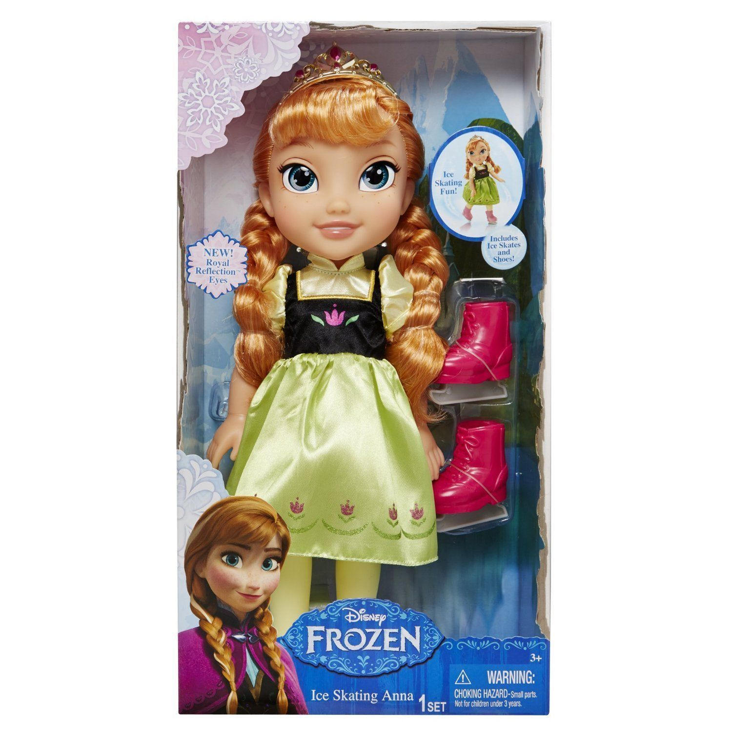 Image 2 of Ice Skating Princess Anna Frozen Toddler Doll Disney, 3+ Years