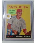 1958 Topps #346 Steve Bilko : Cincinnati Reds - $6.60