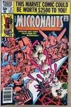 MICRONAUTS #21 (1980) Marvel Comics VG+/FINE- - $9.89