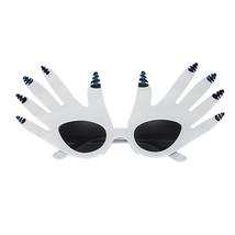 Masquerade Halloween  Party Comic Glasses White Plam Glasses Funny Eyewear - £13.22 GBP