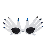 Masquerade Halloween  Party Comic Glasses White Plam Glasses Funny Eyewear - £13.03 GBP