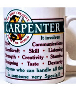 Papel Creative Job Carpenter Mug Special Person Words Tool Profession Co... - $24.87