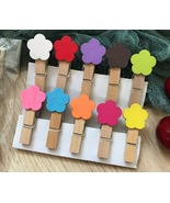 rose flower Photo wood Clip,Special Gift for Children's Party favor Deco... - $3.90+