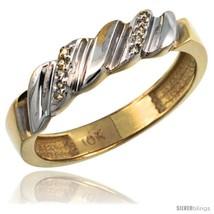 Size 10 - 14k Gold Ladies' Diamond Wedding Ring Band, w/ 0.063 Carat Bri... - $325.50
