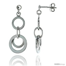 Sterling Silver Dangling Circles Post Earrings, 1 3/16 (30  - $39.62