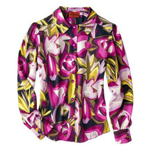 NWT Italian Missoni @Target Women Long Sleeve Blouse Purple Flower Shirt... - $49.99