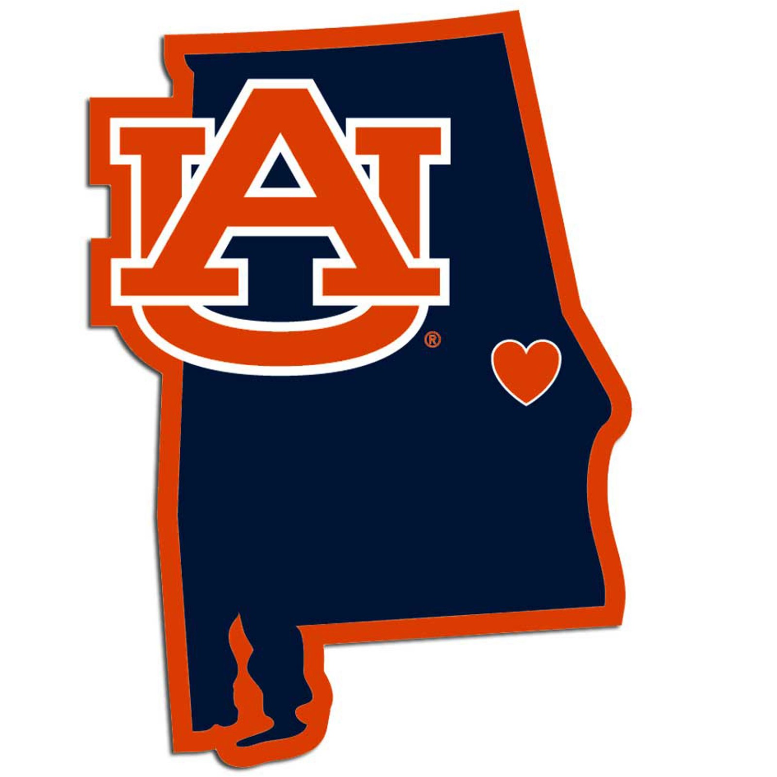 super popular a9773 8bee8 Home state decal auburn tigers