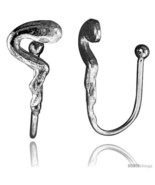 Small Sterling Silver Snake Non-Pierced Nose Ring (one piece) 9/16  - $13.61