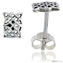 Sterling Silver Celtic Knot Braid Stud Earrings, 1/4 in -Style  - $13.14