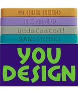 1000 CUSTOM BANDS - A GREAT FUNDRAISER FOR YOUR SCHOOL Silicone Wristban... - $399.98