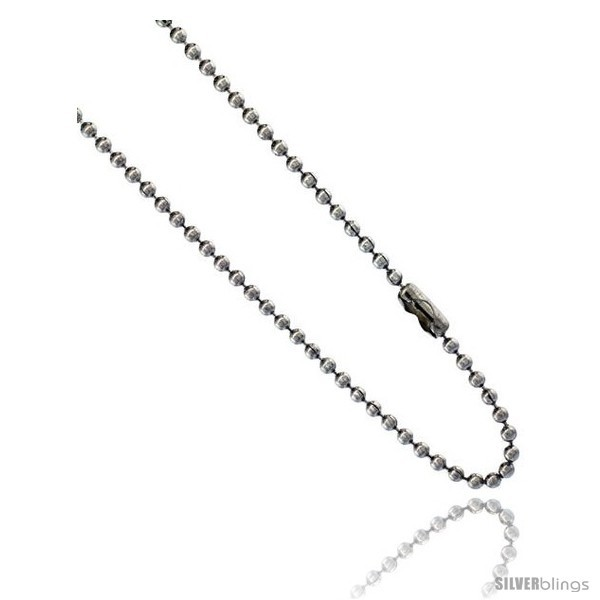 Stainless steel bead ball chain 2 mm thick available necklaces bracelets anklets