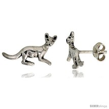 Tiny Sterling Silver Kangaroo Stud Earrings 1/2  - $15.07