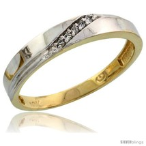 Size 7 - 10k Yellow Gold Ladies' Diamond Wedding Band, 1/8 in wide -Style  - $197.45