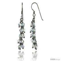 Sterling Silver Clear Swarovski Crystals Cluster Drop Earrings, 2 3/16 in. (56  - $53.94
