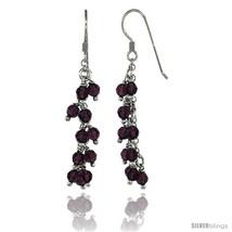Sterling Silver Amethyst Swarovski Crystals Cluster Drop Earrings, 2 3/16 in.  - $53.94