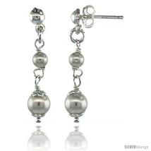 Sterling Silver Swarovski Pearl Drop Earrings, 1 1/4 in. (32 mm)  - $32.34