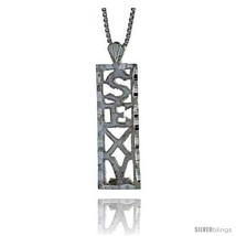 Sterling Silver SEXY Talking Pendant, 7/8 in  - $32.28