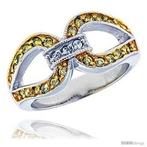 Size 10 - Sterling Silver & Rhodium Plated Knot Ring, w/ Tiny High Quality  - $35.56