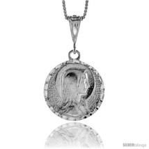 Sterling Silver Mother Mary Medal, 1  - $61.03