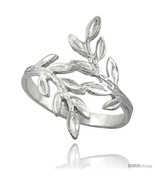 Sterling silver olive branch ring polished finish finish 7 8 in wide thumbtall
